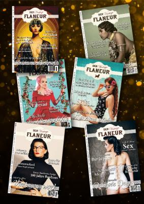 6 Ausgaben des Vintage Flaneurs aus dem Jahr 2019