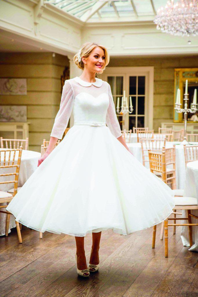 Kleid für die Vintagehochzeit vom mainstreet Vintage Shop