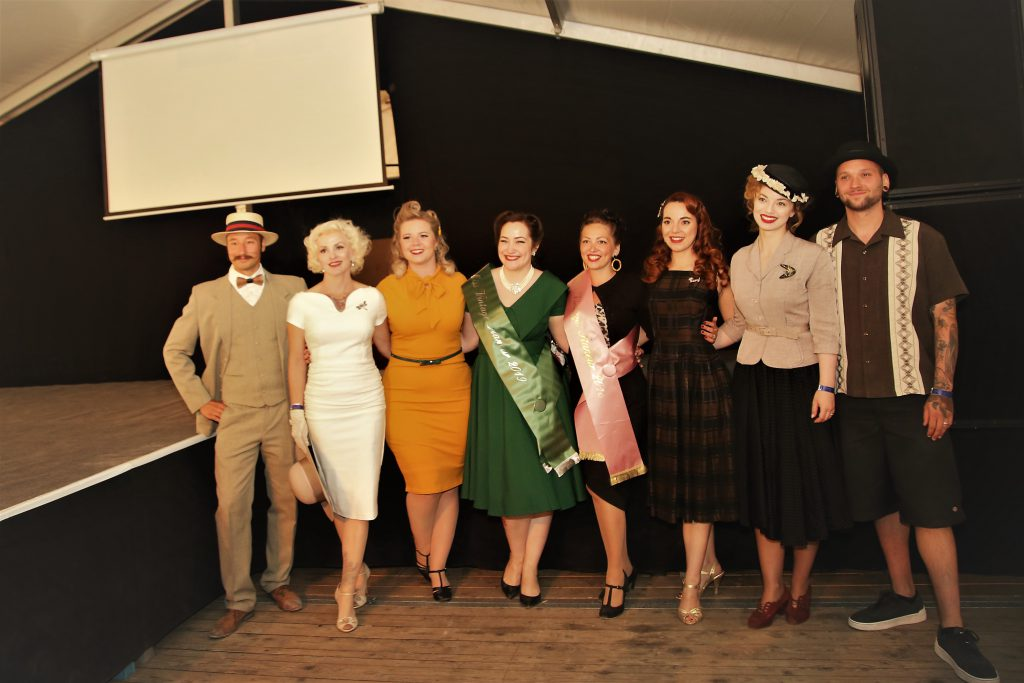 Miss Vintage Flaneur Wahl 2019 Die Jury mit den 3 Finalistinnen
