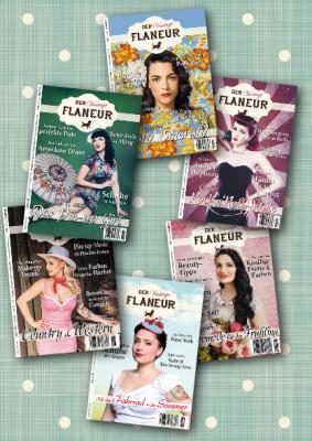 6 Ausgaben des VIntage Flaneurs mit Themen rund um die 50er und 60er Jahre wie Pinup oder Rock'n'Roll