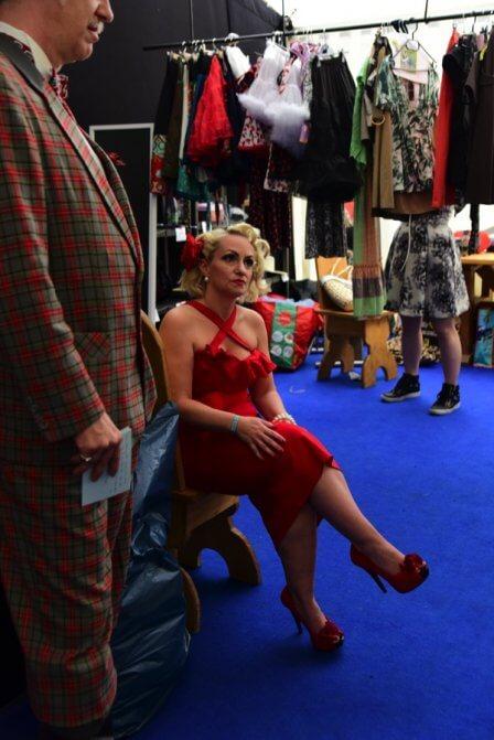 Jenny Starshine im Backstage vor der Wahl