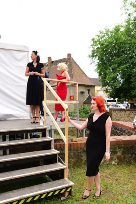 Da sind sie, unsere 3 Damen, kurz vor dem großen Auftritt
