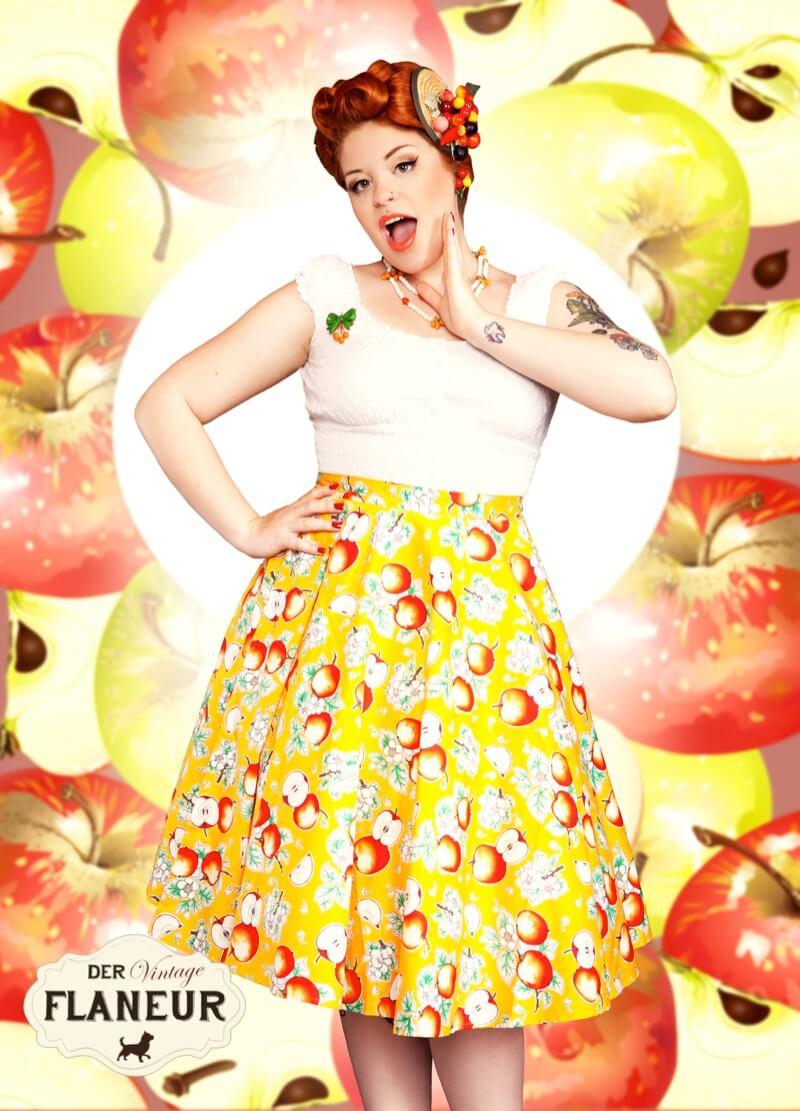 Kikki im Apfelrock