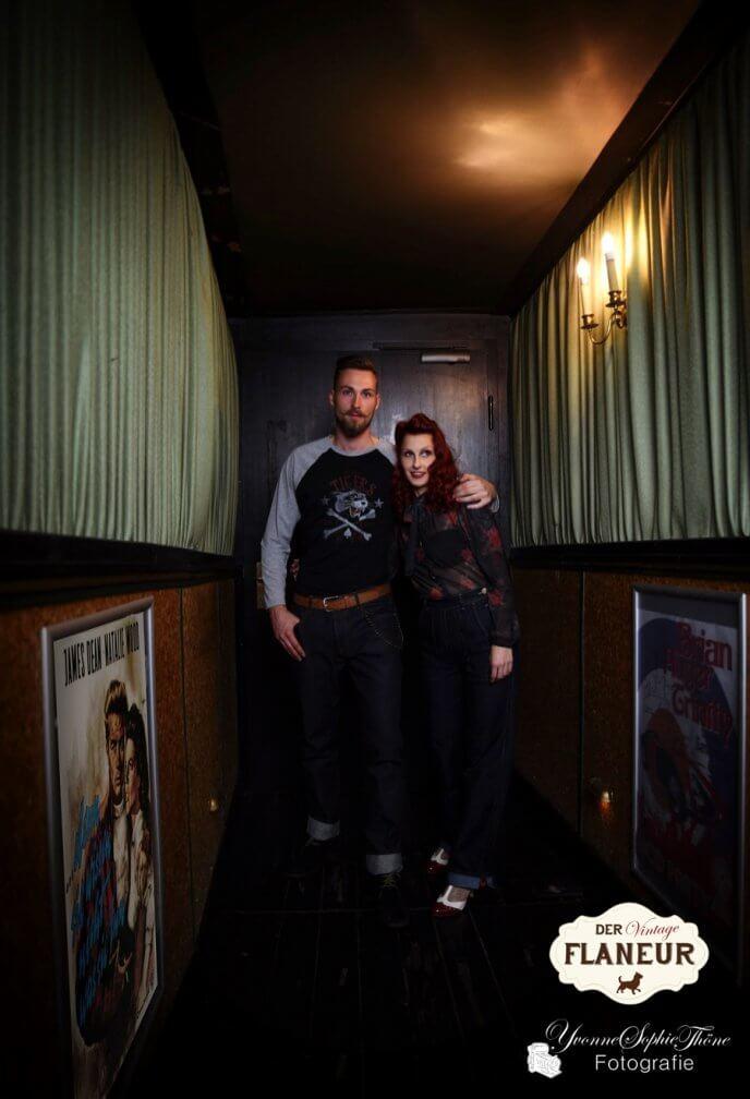 Rock'n'Roll Päärchen im Kino Gang
