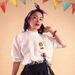 Frau im Vintage Mexiko Look