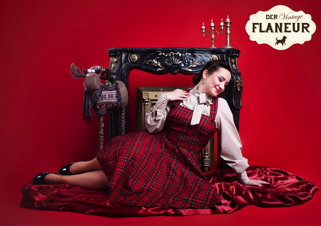 Miss Vintage Flaneur 2019 Lilly León in winterlichem Ambiente