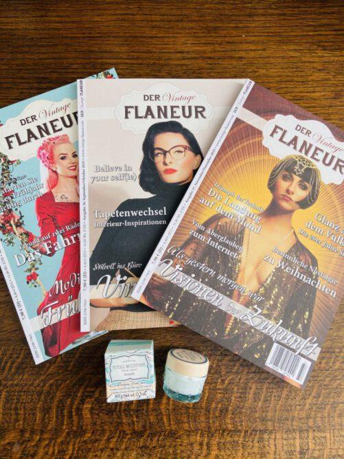 Vintage Flaneur Abo mit Creme von Benefit