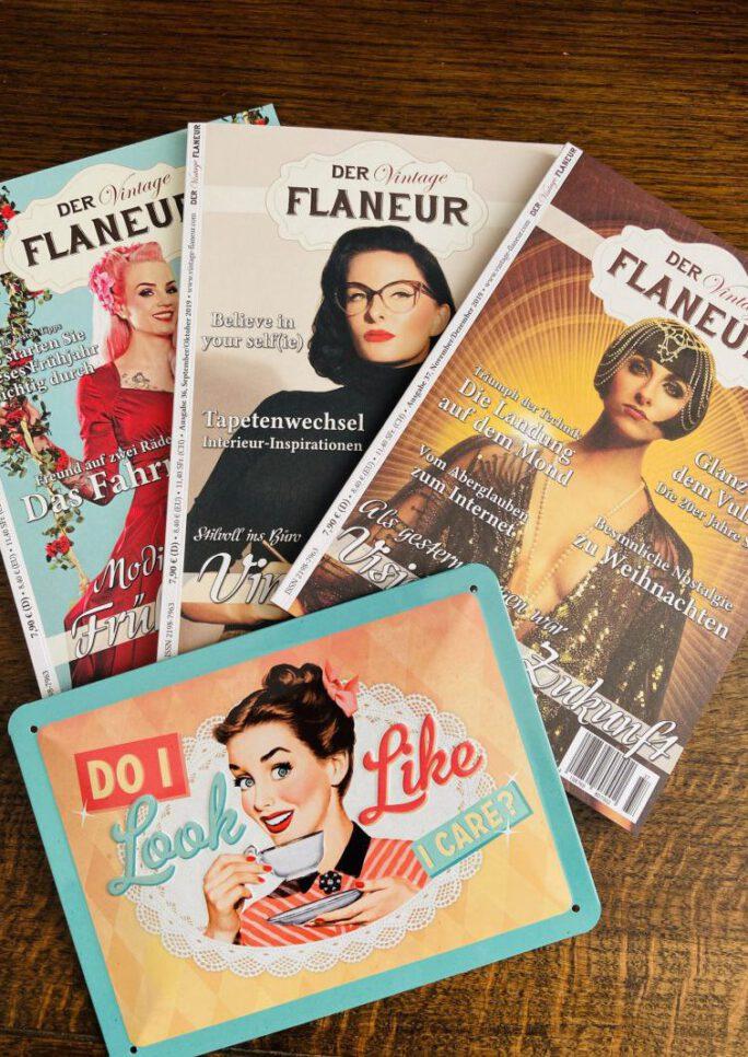 Vintage Flaneur Abo mit Blechschild von Nostalic Art