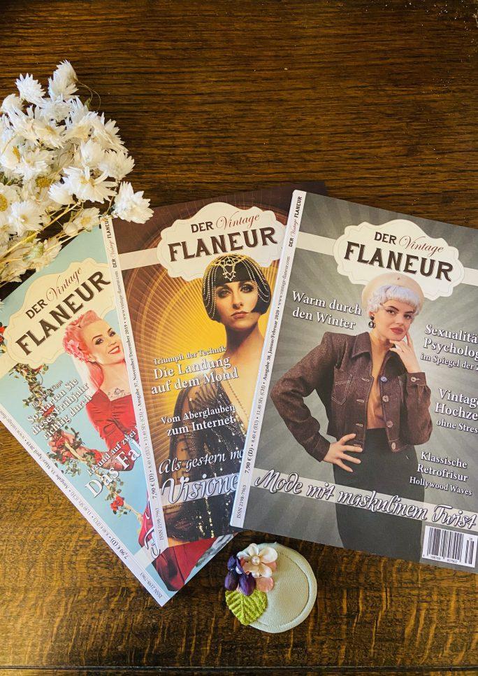 Vintage Flaneur Abo mit Mini Fascinator zum Frühling
