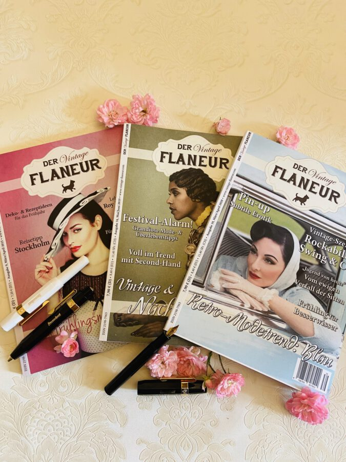 Vintage Flaneur Abo mit edlem Stift