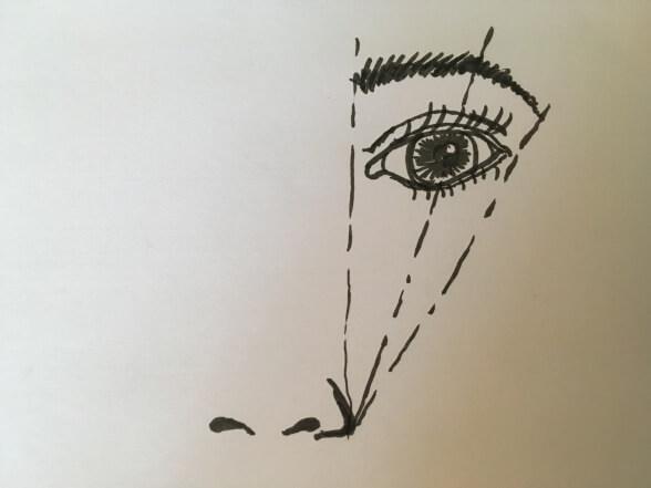 Regel zum Formen der Augenbraue