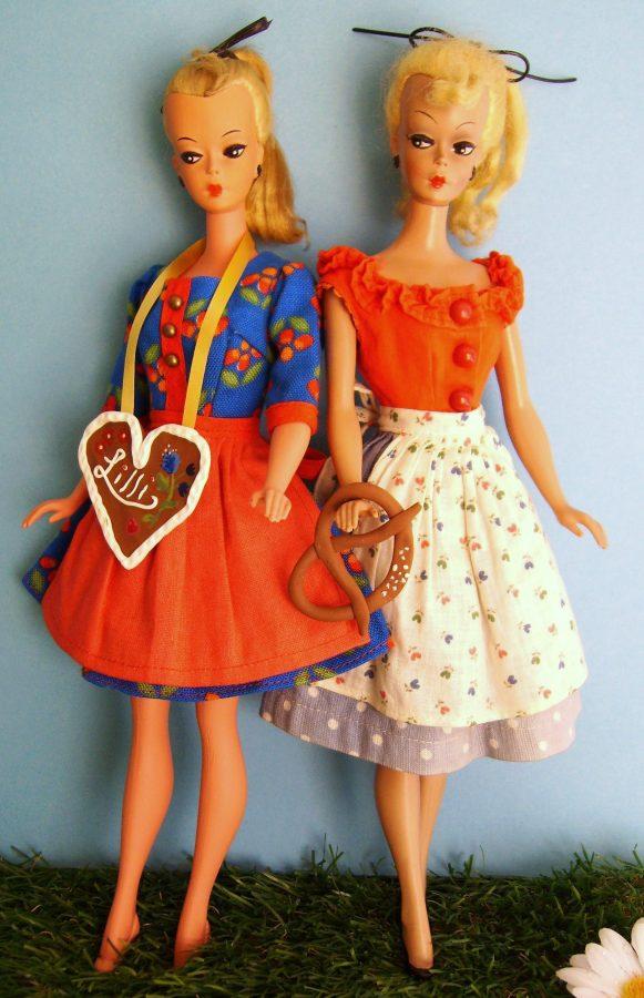 Vintage Puppen in Trachten
