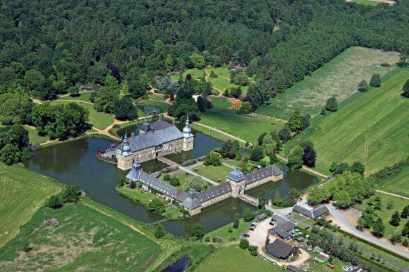 Luftaufnahme Wasserschloss Lembeck