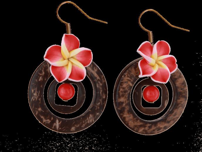Tiki-Ohrringe von Kleinkariert