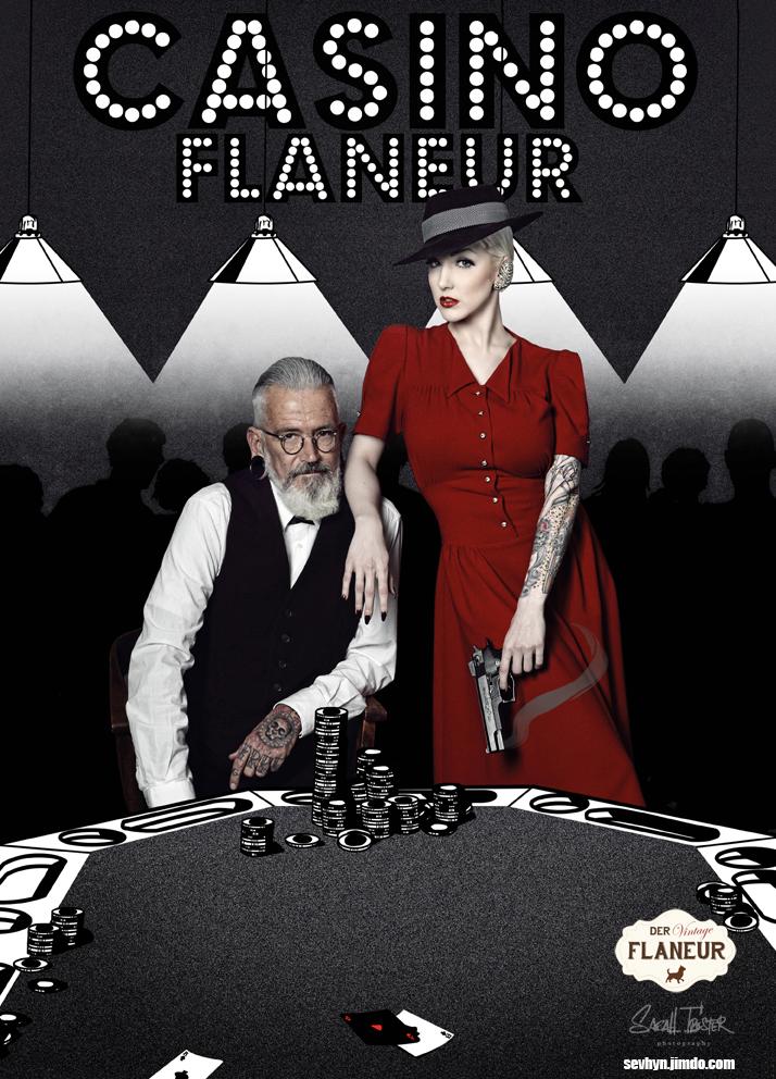 Mann und Frau im Retro Mafia Look
