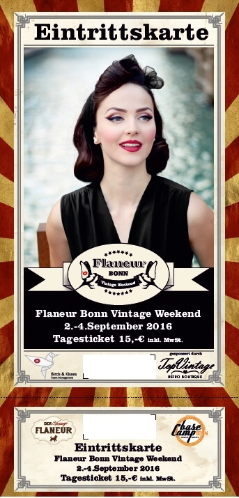 Tagesticket fürs Flaneur Bonn Vintage Weekend