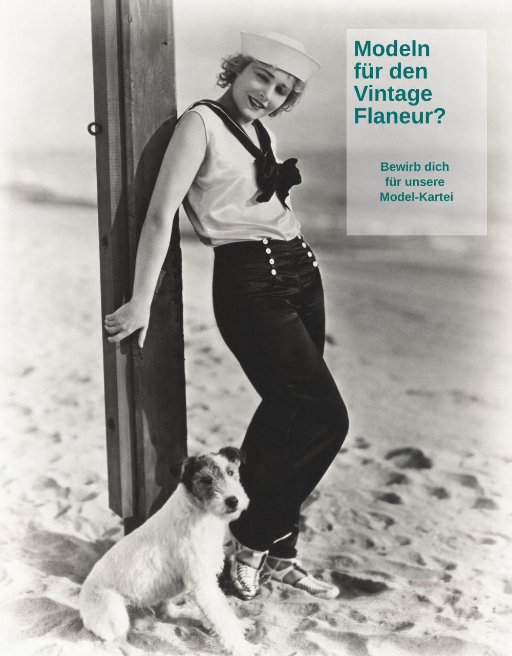 Model für den Vintage Flaneur
