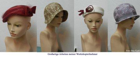 Hüte aus der Kollektion des Atelier Behauptungen