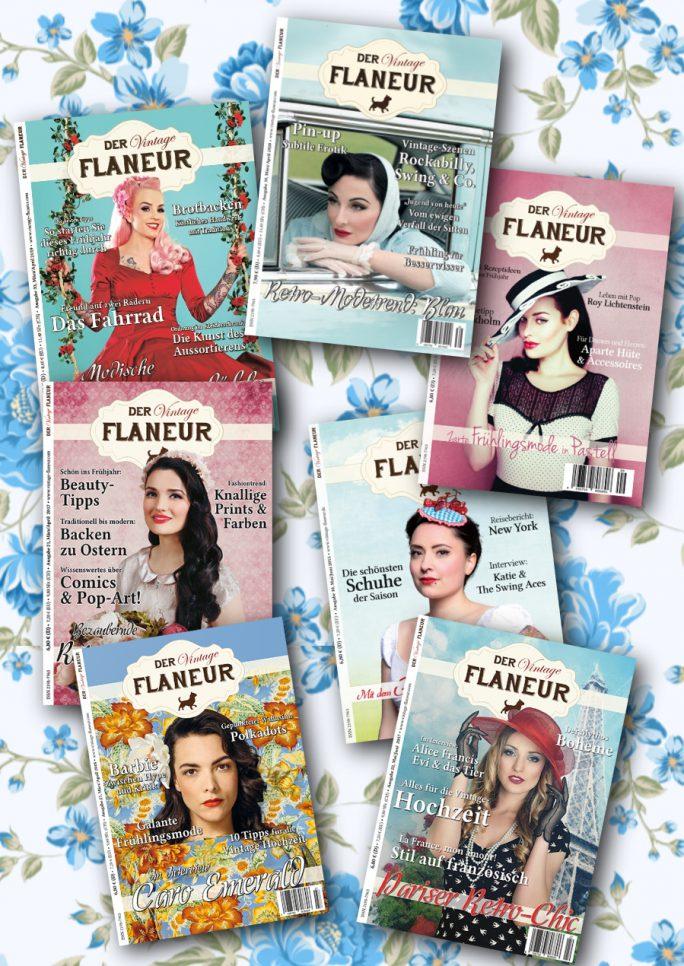 Frühlingsbundle des Vintage Flaneurs mit 7 Ausgaben