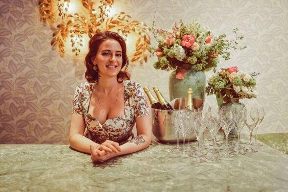 Lena Hoschek bei der Storeeröffnung in Wien