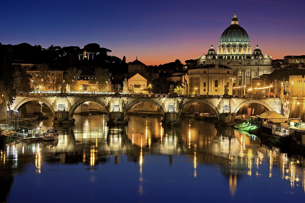 Blick auf den Vatikan in Rom