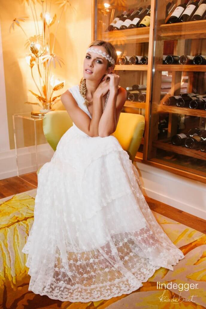 Vintage Hochzeit mit dem Modell Dana von küssdiebraut