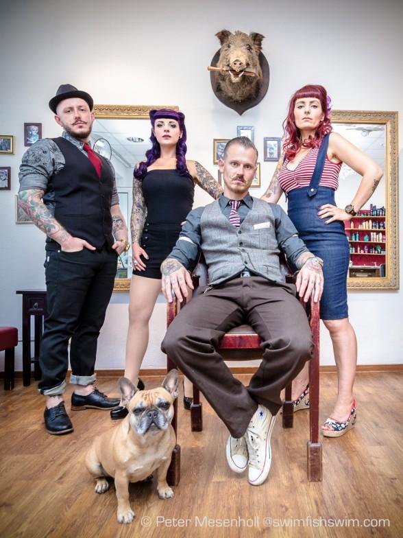 Das Vintage Friseur Team Haarschneiderei Zur Locke