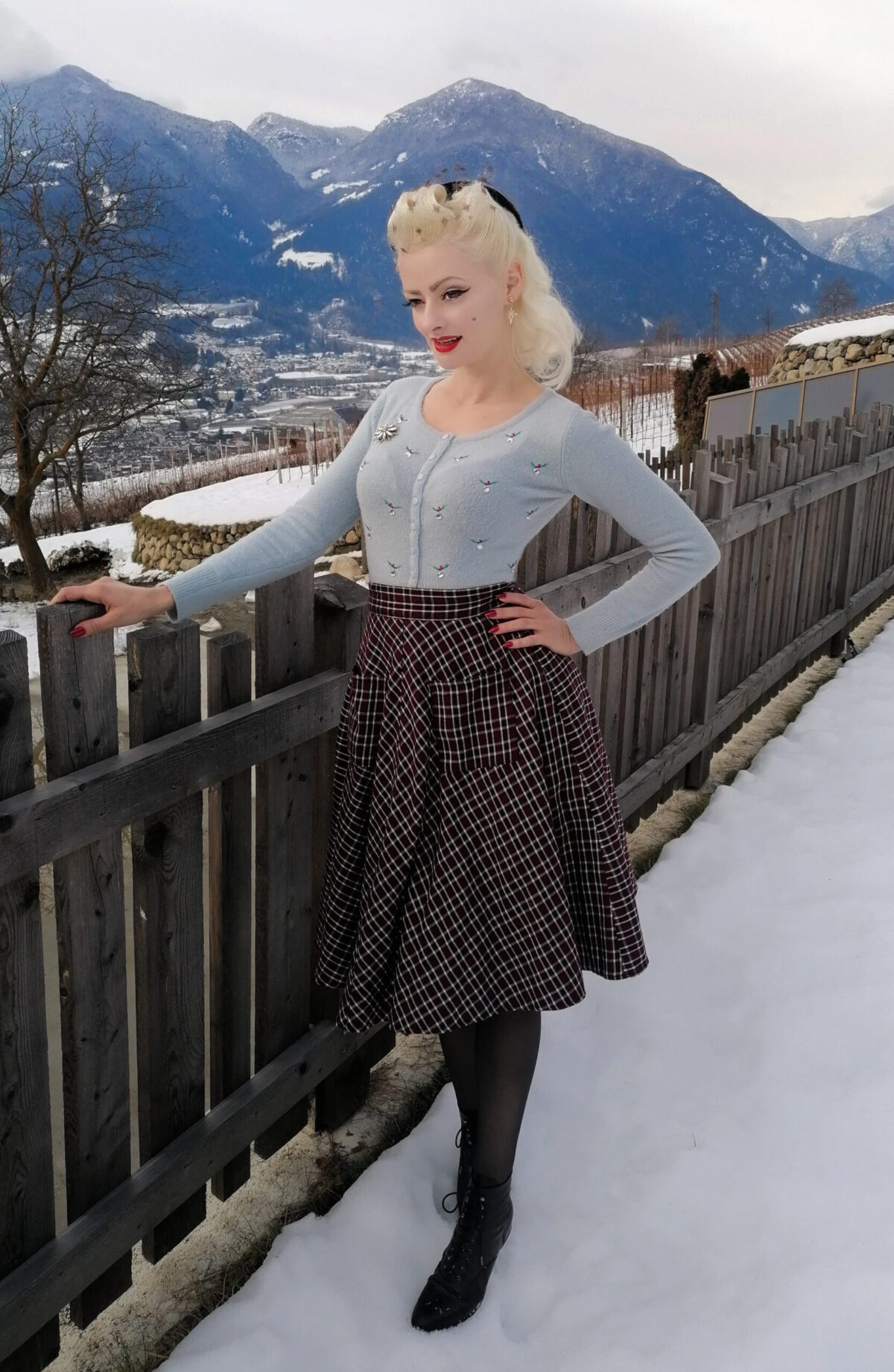 Vintage Stil im Winter