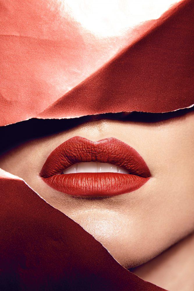 Rote Lippen Vintage Makeup