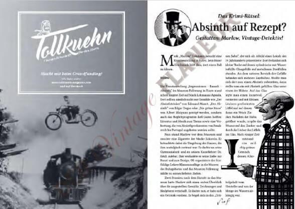 Das Krimirätsel von Bernd Olschewski - und unser neuestes Projekt, die Tollkuehn, Vintage Zeitschrift für den Mann