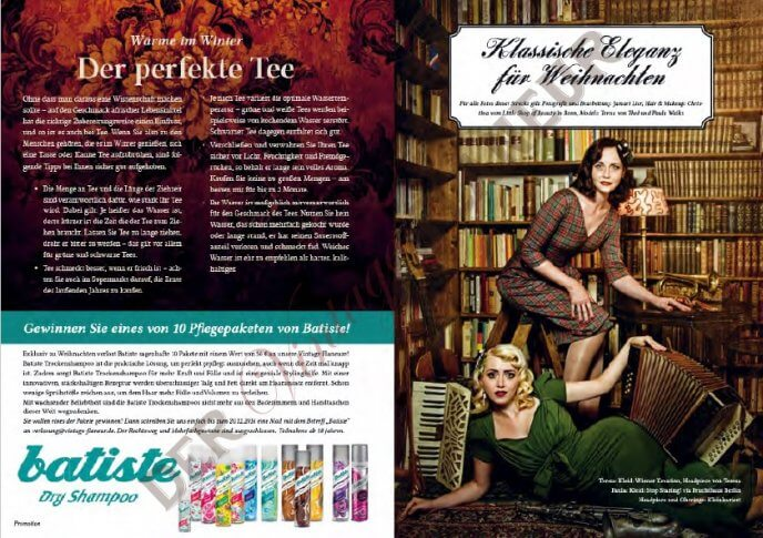 Winterliche Artikel und Weihnachtsmode - fotografiert von Jamari Lior, H&M: Little Shop of Beauty/Bonn, Models: Paula Walks und Teresa von Thèe