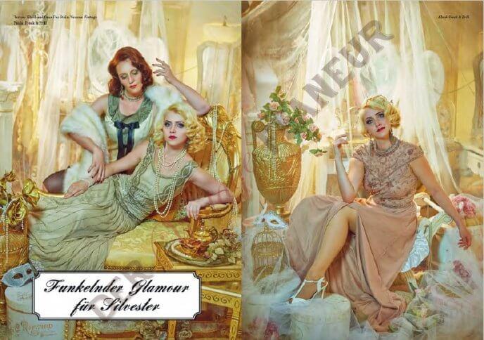 Glamouröse Silvestergarderobe - fotografiert von Jamari Lior, H&M: Little Shop of Beauty/Bonn, Models: Paula Walks und Teresa von Thèe