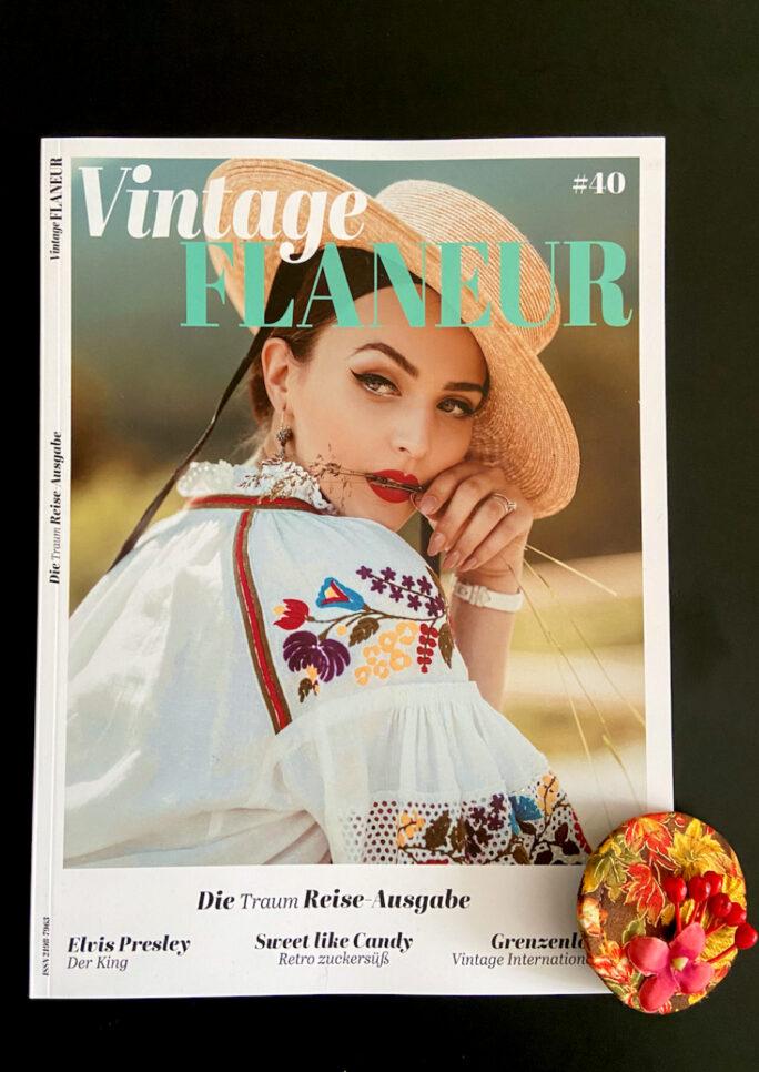 Abo des Vintage Flaneurs mit herbstlichem Fascinator