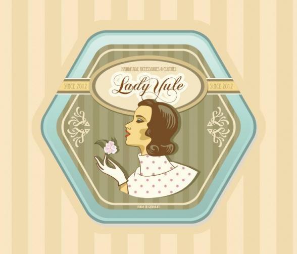 Logo des Vintage Ladens Lady Yule in Dresden